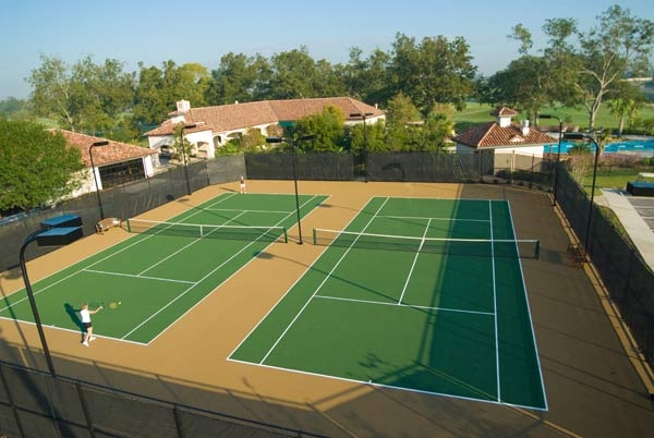 The tennis courts at black hawk country club